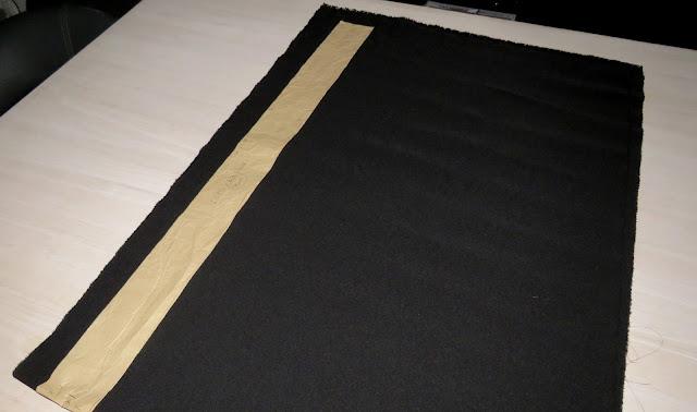 Patrón opción de colocación en doblez de tela