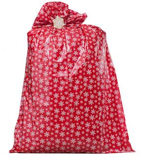 Plastic Jumbo Gift Bag With Tag And Ribbon
