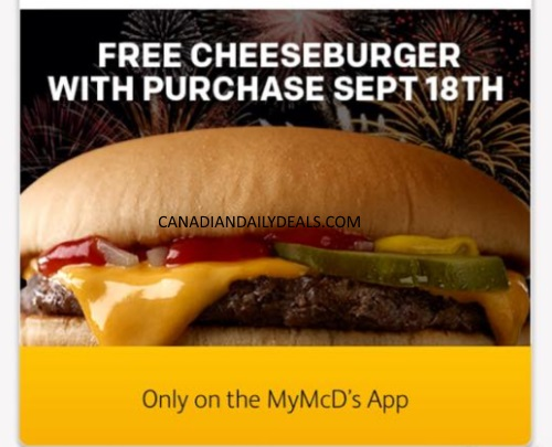 McDonalds Free Cheeseburger