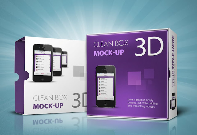 Mock Up Boxes : Clean_Box_3D_Mock-up