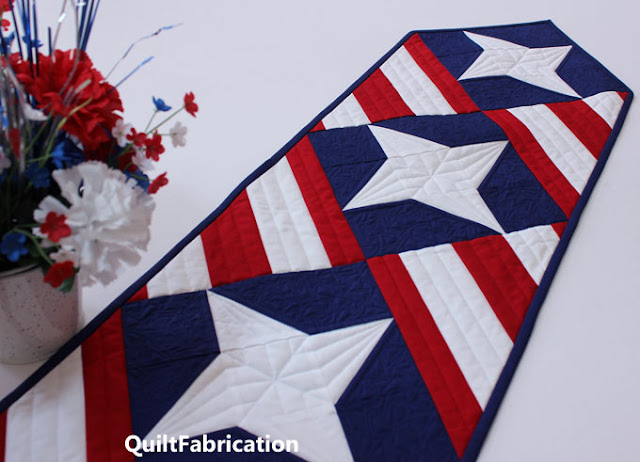 red white and blue table runner