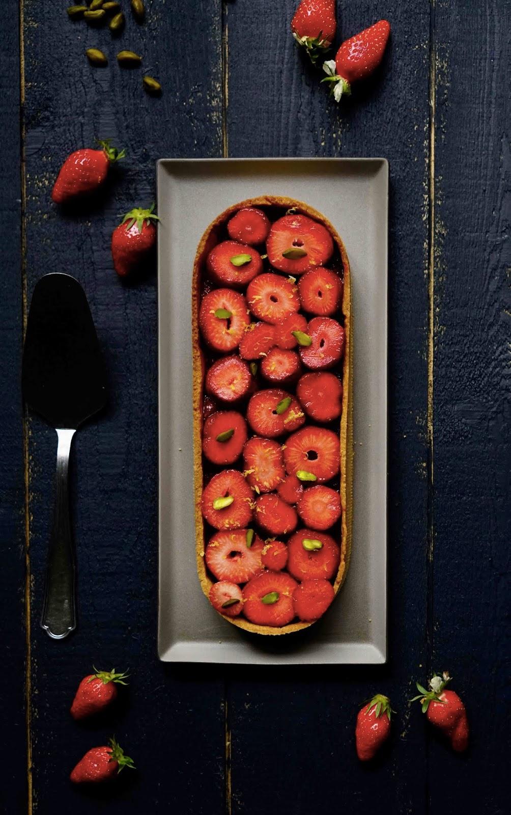tarte aux fraises du dimanche , recette facile , pâte sucrée