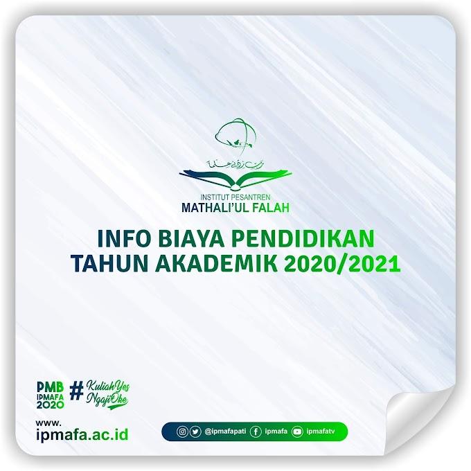 INFO BIAYA PENDIDIKAN TAHUN AKADEMIK 2020/2021