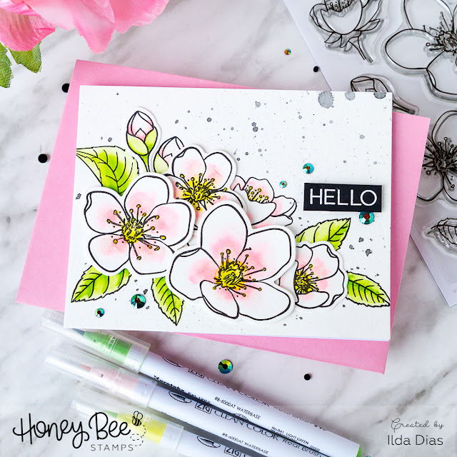 Spring Blossoms Card for Honey Bee Stamps Spring Release Blog Hop - Day 2 by Ilovedoingallthingscrafty