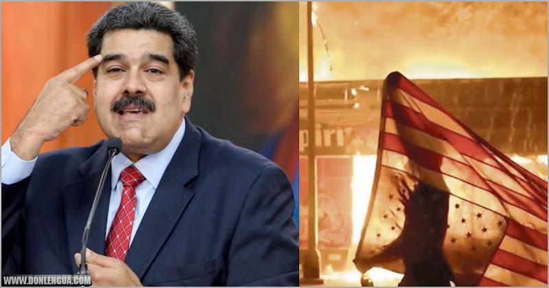 Maduro confirma que apoya las protestas en EEUU y dice que no tiene nada que ver