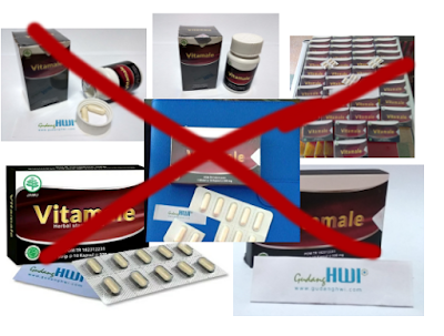 perbedaan vitamale asli dan palsu