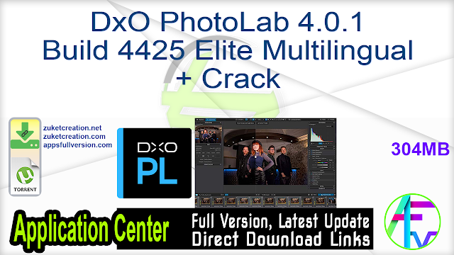 DxO PhotoLab 4.0.1 Build 4425 Elite Multilingual + Crack