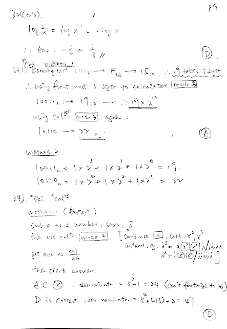 2019 DSE Math Paper 2 Detailed Solution 數學 卷二 答案 詳解 Q33,33,34