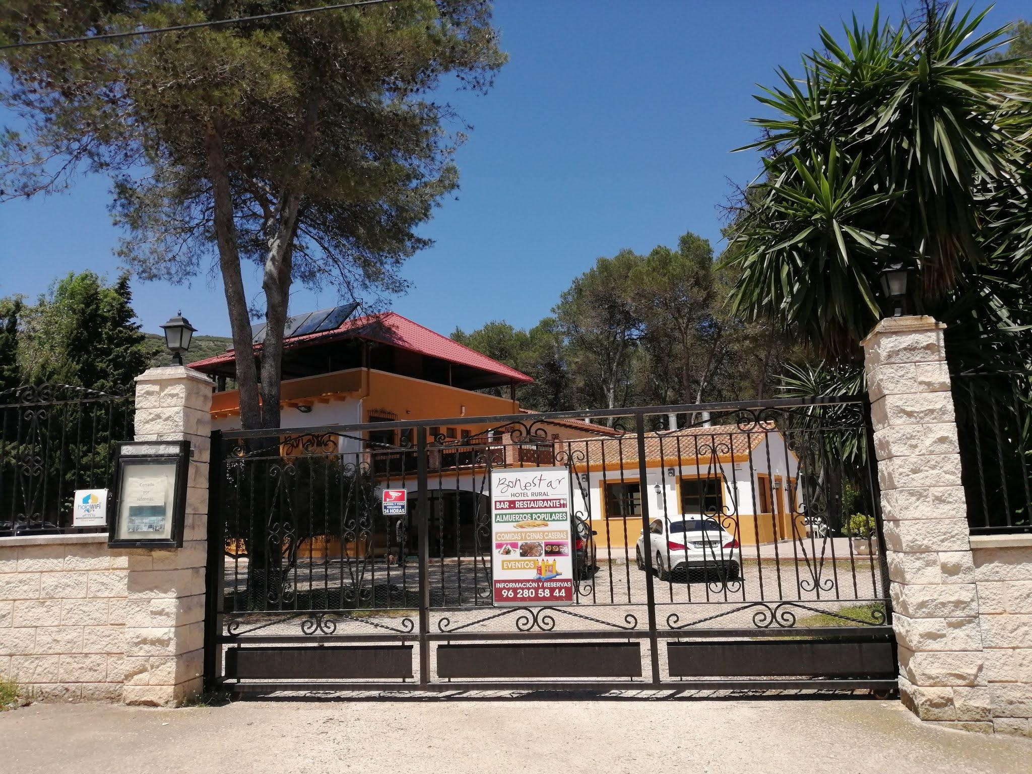 Entrance to Hotel Bonestar, La Llacuna, Valencia, Spain
