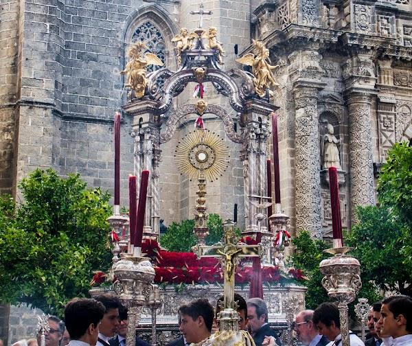 Horario e Itinerario Procesión Sacramental del Corpus de Minerva. Jerez de la Frontera 13 de Junio del 2021