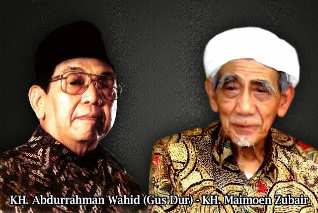 Image result for gus dur dan kh.maimoen zubair