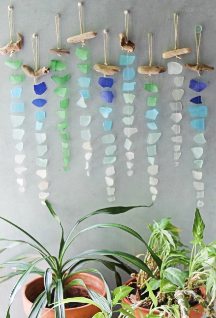Sea Glass Chimes Suncatchers, Sea Glass Wind Chimes Diy