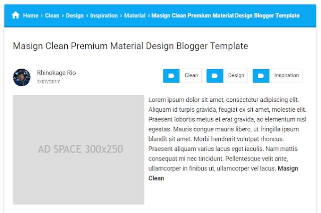 Material Design Template