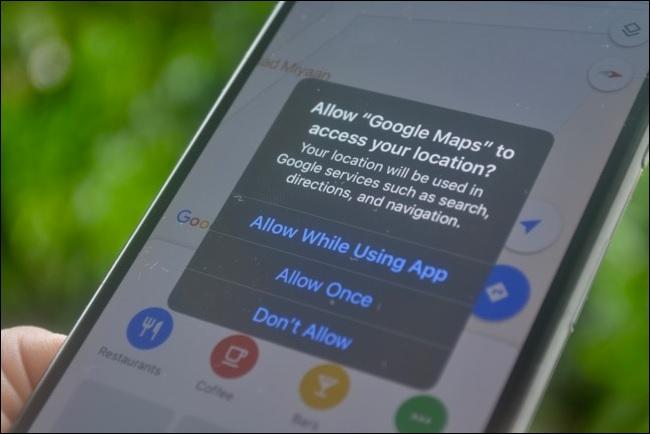 izin akses lokasi pada iphone