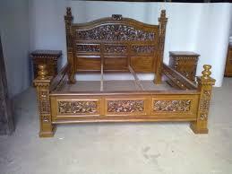 tempat tidur asli jepara yang berkualitas bahan kayu jati dengan harga murah