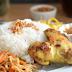 Resep Dan Cara Membuat Nasi Uduk Rice Cooker & Ayam Goreng Ungkep Bumbu Kuning + Sambal Kacang