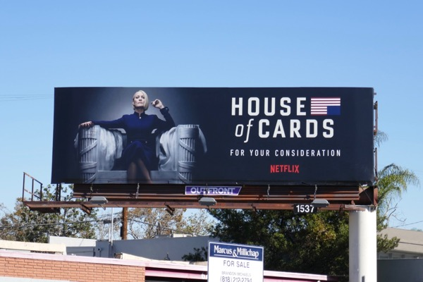 House of Cards final season 6 FYC billboard