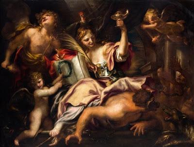 Domenico Piola, Triunfo de la Sabiduría sobre la Ignorancia y el Miedo