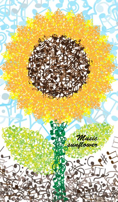 Music sunflower