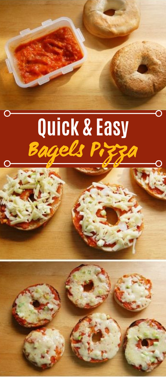 Freezer Pizza Bagels #easy #lunch