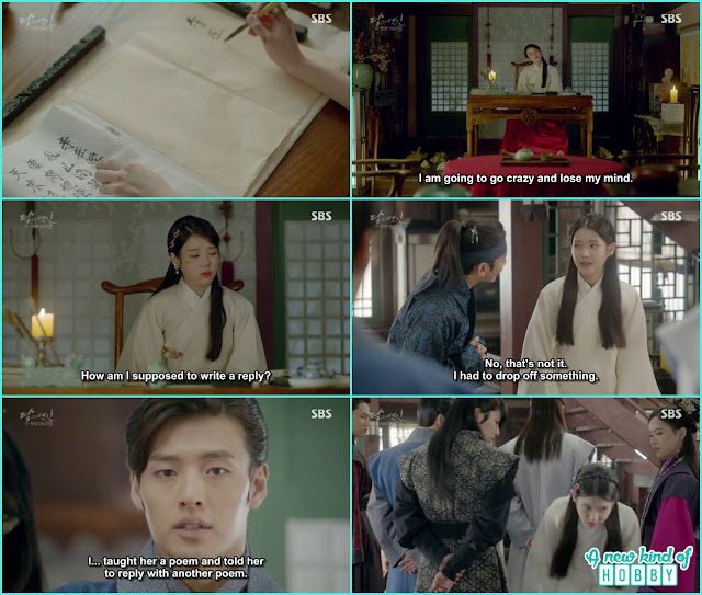 hae so give a reply to 8th prince poem  - Moon Lovers: Scarlet Heart Ryeo - Episode 5 Review