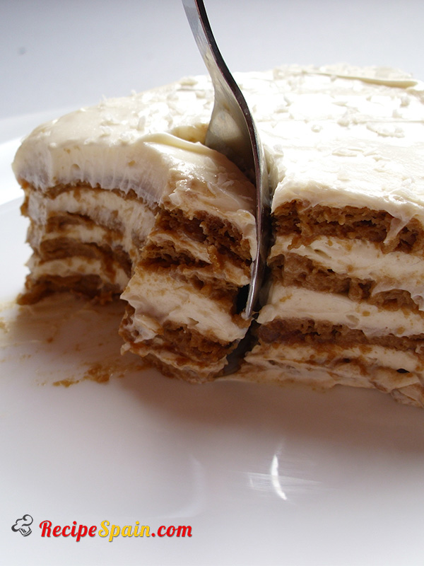 Coffee and cookie dessert-cake