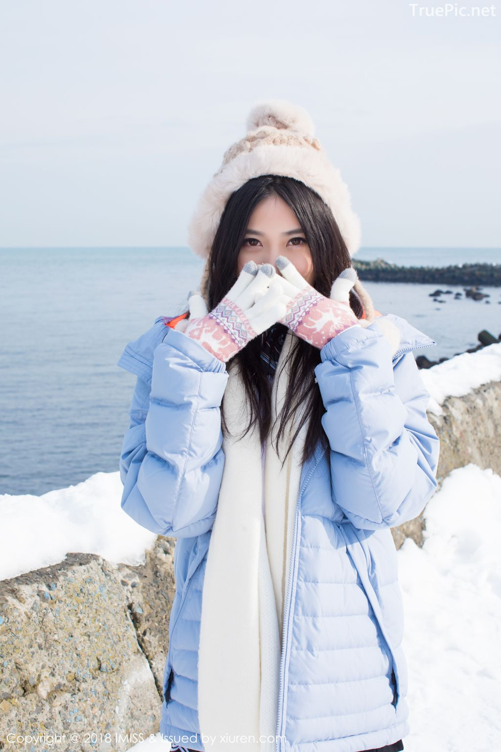 Image-IMISS-Vol.262-Sabrina model–Xu-Nuo-许诺-Sparkling-White-Snow-TruePic.net- Picture-7