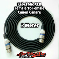 Kabel Mic XLR 2 Meter Female to Female Jack Canon Canare