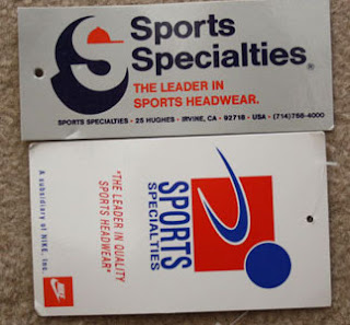 Sports Specialties label and hangtag