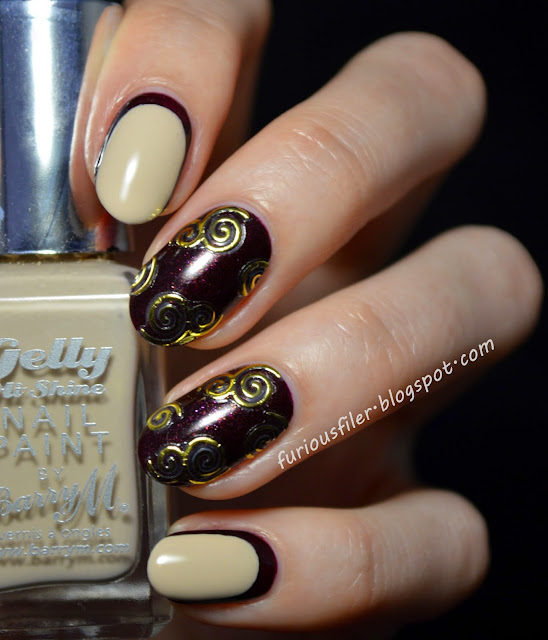 ruffian nail art stickers nude purple