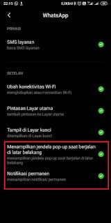 Cara memunculkan notifikasi popup WA 4
