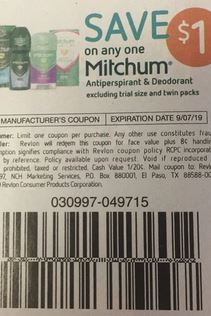 "$1.00/1 Mitchum Antiperspirant/Deodorant  Coupon from ""SMARTSOURCE"" insert week of 8/11 (EXP:9/7)."