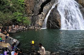 Bathing at Dudhsagar falls