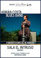 Concierto de Adrián Costa Blues Band en El Intruso