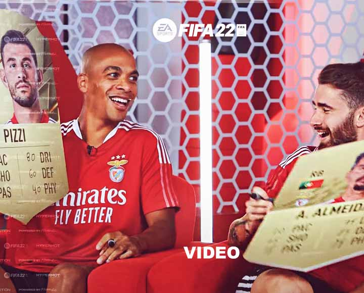 EA sports, fifa 22, Benfica players ratings, video,
