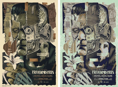 Universal Monsters: Frankenstein Screen Print by Anthony Petrie x Bottleneck Gallery x Vice Press