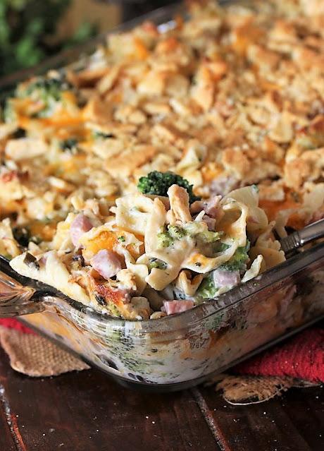 Cheesy Ham & Broccoli Noodle Casserole Image