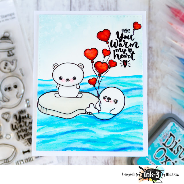 You Warm My Heart Valentine's Day Card - Ink On 3 Stamps