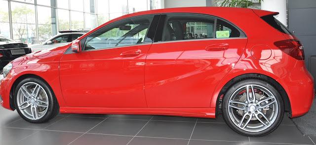 Thiết kế bên hông Mercedes A250 mạnh mẽ thể thao