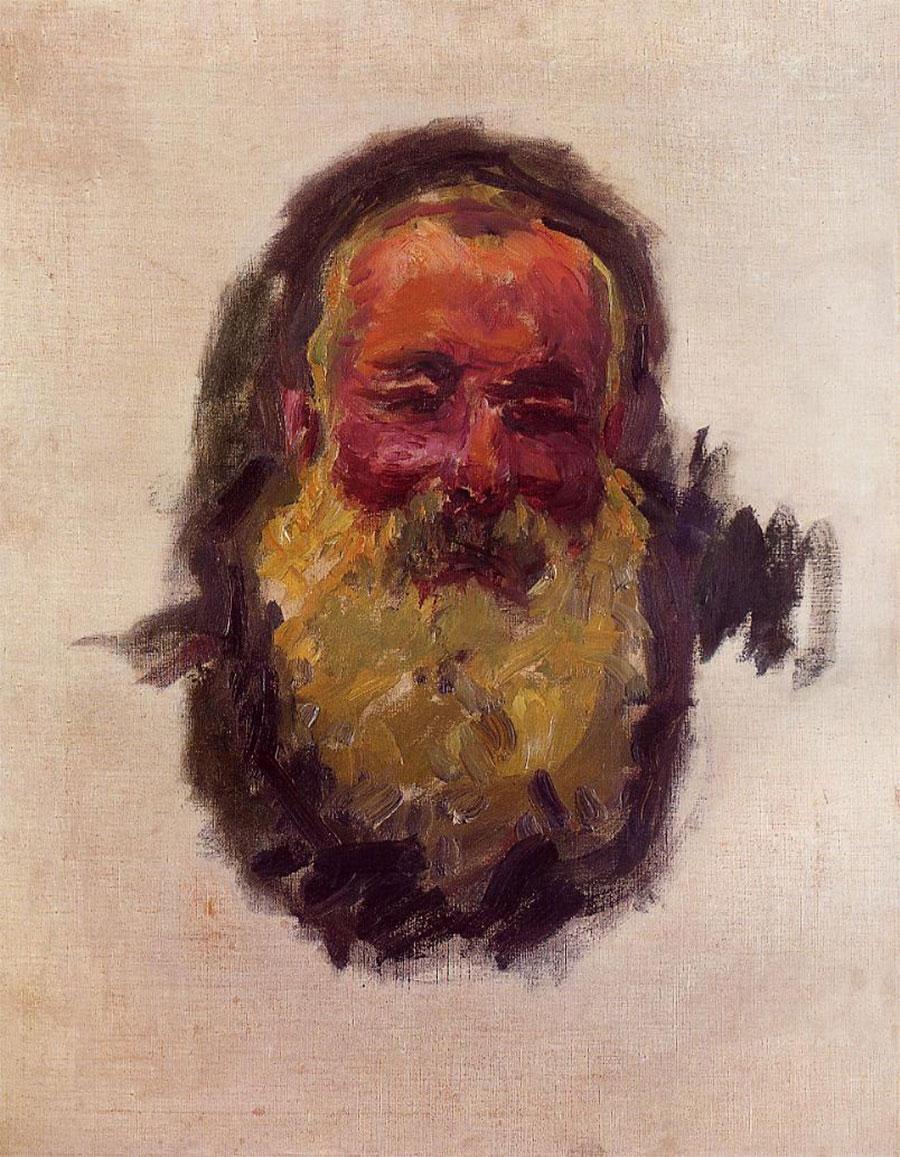 Autorretrato. Claude Monet. 1917, Óleo sobre lienzo, 70x55 cm. París, Museo d'Orsay.