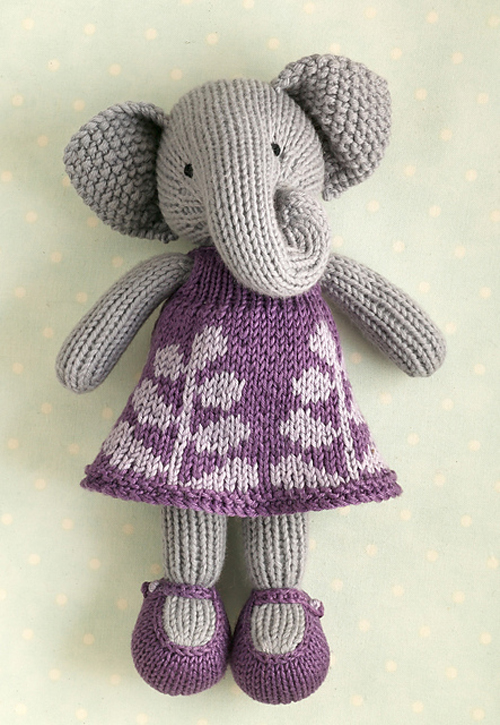 Girl Elephant - Knitting Pattern