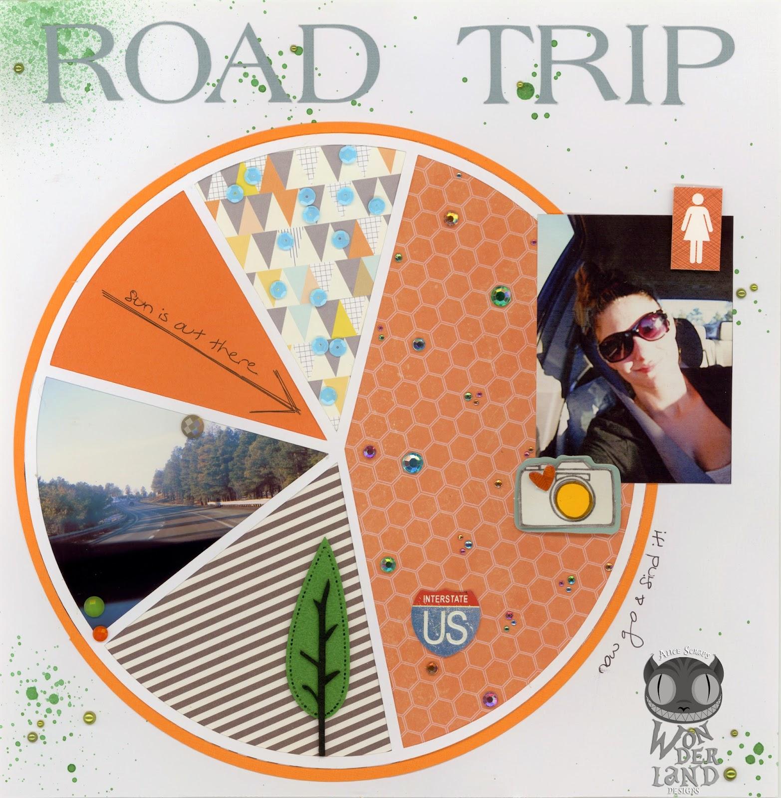Road Trip| Scrapbook layout by Alice Scraps Wonderland