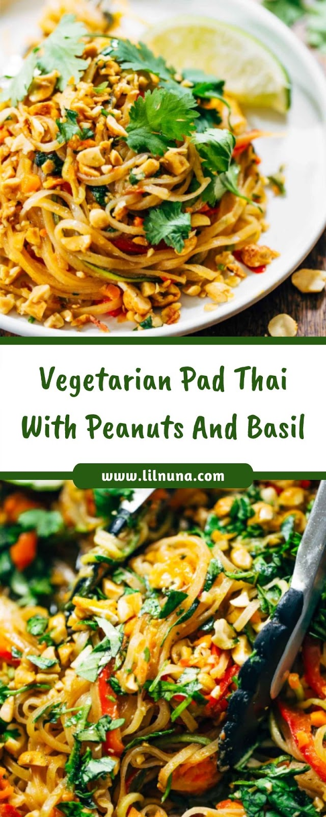 Vegetarian Pad Thai With Peanuts And Basil