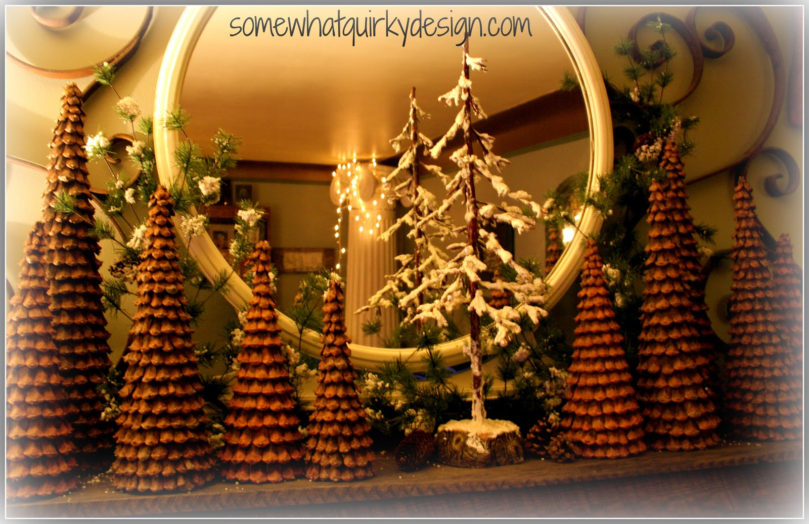 Somewhat Quirky: Pine Cone Christmas Trees