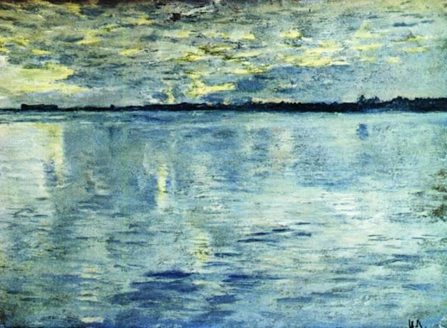 Исаак Ильич Левитан - Озеро. Вечер. 1898-1899