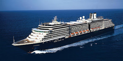 Holland America's Zuiderdam sailed from the Manhattan Cruise Terminal to New England, Canada
