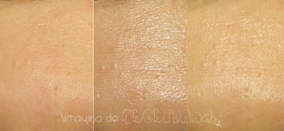 comparativo da pele com o protetor Nivea Sun Protect Water Gel SPF 50 PA+++