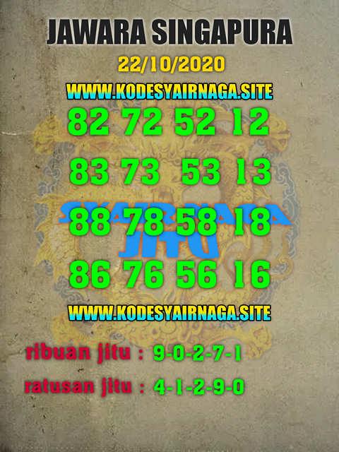 Kode syair Singapore Kamis 22 Oktober 2020 227