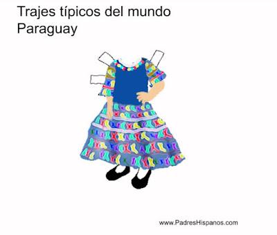 Trajes típicos del mundo: Paraguay