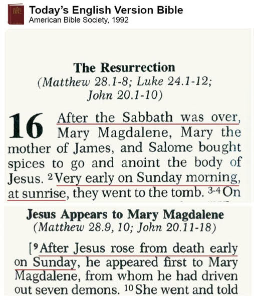 TEV - Sabbathday is Saturday